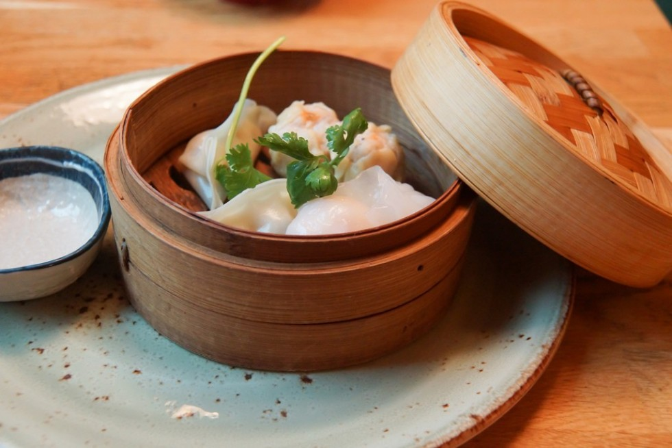 Dim Sum with Dry-Aged minced scallions