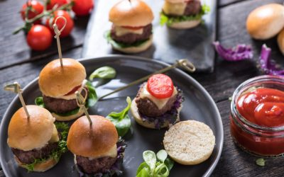 Dry-Aged Beef Mini Burger with Cheddar Cheese